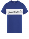 Футболка хлопковая с вышивкой oodji #SECTION_NAME# (синий), 5L611010I-1/44135N/7529P
