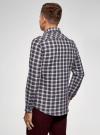 Рубашка прямого силуэта из хлопка oodji #SECTION_NAME# (разноцветный), 3L310188M/49363N/1279C - вид 3