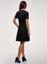 Платье приталенного силуэта на молнии oodji #SECTION_NAME# (черный), 14001226-1/48881/2910P - вид 3