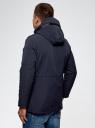 Парка с капюшоном и накладными карманами oodji #SECTION_NAME# (синий), 1L412033M/46332N/7900N - вид 3