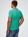 Поло из ткани пике oodji для мужчины (зеленый), 5B422001M/44032N/6500N