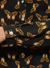 Блузка принтованная из шифона oodji #SECTION_NAME# (черный), 11400394-5/36215/2935U - вид 5