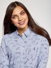 Рубашка принтованная с длинным рукавом oodji #SECTION_NAME# (синий), 13K11022/45202/7910G - вид 4