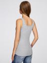 Майка базовая oodji для женщины (серый), 14315001B/45307/2000M