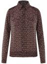 Блузка из струящейся ткани с нагрудными карманами oodji #SECTION_NAME# (черный), 11401278/36215/2954E