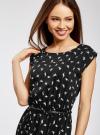 Платье без рукавов из принтованной вискозы oodji #SECTION_NAME# (черный), 11910073-1M/26346/2912A - вид 4