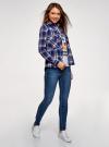 Рубашка с нагрудными карманами oodji #SECTION_NAME# (синий), 13L11006-1B/42850/7945C - вид 6