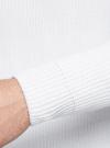 Джемпер хлопковый с круглым вырезом oodji #SECTION_NAME# (белый), 4L105048M/44534N/1200N - вид 5