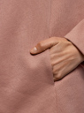 Кардиган на искусственном меху с запахом oodji для женщины (розовый), 19207001/18586/4B12B