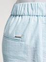 Брюки хлопковые на эластичном поясе oodji для женщины (синий), 11703098/42583/7010S