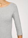 Платье трикотажное базовое oodji #SECTION_NAME# (серый), 14001071-2B/46148/2501M - вид 5