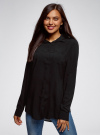 Блузка с нагрудными карманами и регулировкой длины рукава oodji #SECTION_NAME# (черный), 11400355-8B/48458/2900N - вид 2
