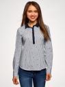 Рубашка принтованная oodji #SECTION_NAME# (синий), 13K03002-3B/45202/1079S - вид 2