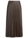 Юбка макси плиссированная oodji #SECTION_NAME# (коричневый), 21606020/45879/3912G