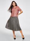 Блузка ворсистая с вырезом-капелькой на спине oodji #SECTION_NAME# (розовый), 14701049/46105/4A00N - вид 6