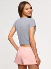 Пижама хлопковая с принтом oodji для женщины (серый), 56002230-3/46154/2040Z - вид 3