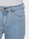 Джинсы skinny с высокой посадкой oodji #SECTION_NAME# (синий), 12104065-1B/46734/7000W - вид 4