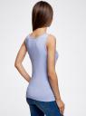 Майка базовая oodji для женщины (синий), 24315001B/46147/7000M