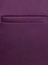 Брюки базовые со стрелками oodji #SECTION_NAME# (фиолетовый), 21701090B/42250/8803N - вид 4