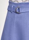 Юбка из искусственной замши с поясом oodji #SECTION_NAME# (синий), 18H05015/45778/7500N - вид 4