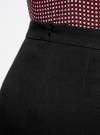 Юбка прямая с декоративными молниями oodji #SECTION_NAME# (черный), 11602180/31291/2900N