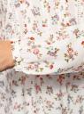 Блузка из принтованной вискозы oodji #SECTION_NAME# (слоновая кость), 11411096-1M/24681/1241F - вид 5