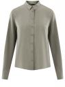 Блузка базовая из вискозы oodji #SECTION_NAME# (серый), 11411136B/26346/2301N