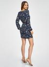 Платье из шифона с ремнем oodji для женщины (синий), 11900150-5B/32823/7975F - вид 3