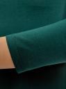Платье облегающее с вырезом-лодочкой oodji #SECTION_NAME# (зеленый), 14017001-6B/47420/6900N - вид 5