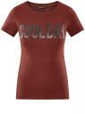 Футболка хлопковая с принтом oodji для женщины (красный), 14701093-1/48959/4900P