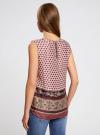 Топ принтованный из струящейся ткани oodji для женщины (разноцветный), 21400351M/35542/1231E - вид 3