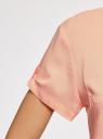 Блузка из вискозы с нагрудными карманами oodji #SECTION_NAME# (оранжевый), 11400391-4B/24681/5400N - вид 5