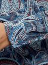 Блузка удлиненная с этническим орнаментом oodji #SECTION_NAME# (бирюзовый), 21405135/45192/7370E - вид 5