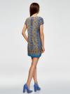 Платье прямое базовое oodji #SECTION_NAME# (синий), 22C01001-1B/45559/7557E - вид 3