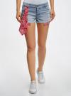 Шорты джинсовые с банданой oodji #SECTION_NAME# (синий), 12807088/46787/7000W - вид 2
