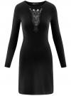 Платье с декоративной вставкой oodji #SECTION_NAME# (черный), 73912220/33506/2900N