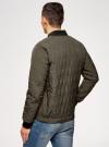 Куртка стеганая с резинками на манжетах и воротнике oodji #SECTION_NAME# (зеленый), 1L111021M/46344N/6600N - вид 3