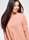 Блузка вискозная А-образного силуэта oodji #SECTION_NAME# (розовый), 21411113B/26346/5401N - вид 4