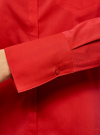Рубашка базовая с одним карманом oodji #SECTION_NAME# (красный), 11406013/18693/4500N - вид 5