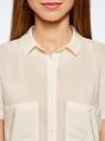 Блузка из вискозы с нагрудными карманами oodji #SECTION_NAME# (слоновая кость), 11400391-3B/24681/3000N - вид 4