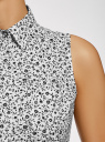 Платье хлопковое на кулиске oodji #SECTION_NAME# (белый), 11901147-5B/42468/3029F - вид 5