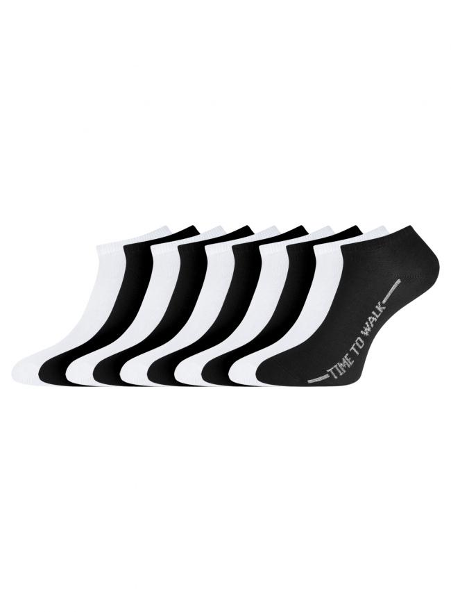 Комплект укороченных носков (10 пар) oodji для женщины (разноцветный), 57102433T10/47469/25