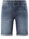 Шорты джинсовые с потертостями oodji #SECTION_NAME# (синий), 6B220013M/35771/7400W