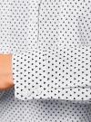 Рубашка базовая с нагрудными карманами oodji #SECTION_NAME# (белый), 11403222B/42468/1029G - вид 5