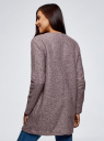 Кардиган из фактурной ткани с накладными карманами oodji #SECTION_NAME# (розовый), 19201003/47208/4B12N - вид 3