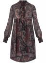 Платье шифоновое с асимметричным низом oodji #SECTION_NAME# (черный), 11913032/38375/2966E
