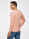 Пуловер с хлопковой вставкой на груди oodji #SECTION_NAME# (розовый), 4B212006M/39245N/5410B - вид 3