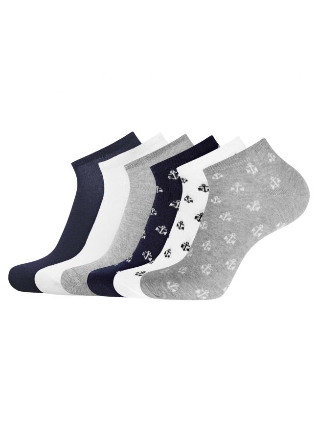Комплект из шести пар укороченных носков oodji для мужчины (разноцветный), 7O261001T6/47469/1900O