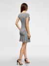 Платье трикотажное с воланами oodji #SECTION_NAME# (черный), 14011017/46384/2910F - вид 3