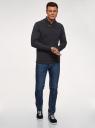 Джемпер из фактурной ткани с шалевым воротником oodji #SECTION_NAME# (синий), 5L114034M/49015N/7900N - вид 6